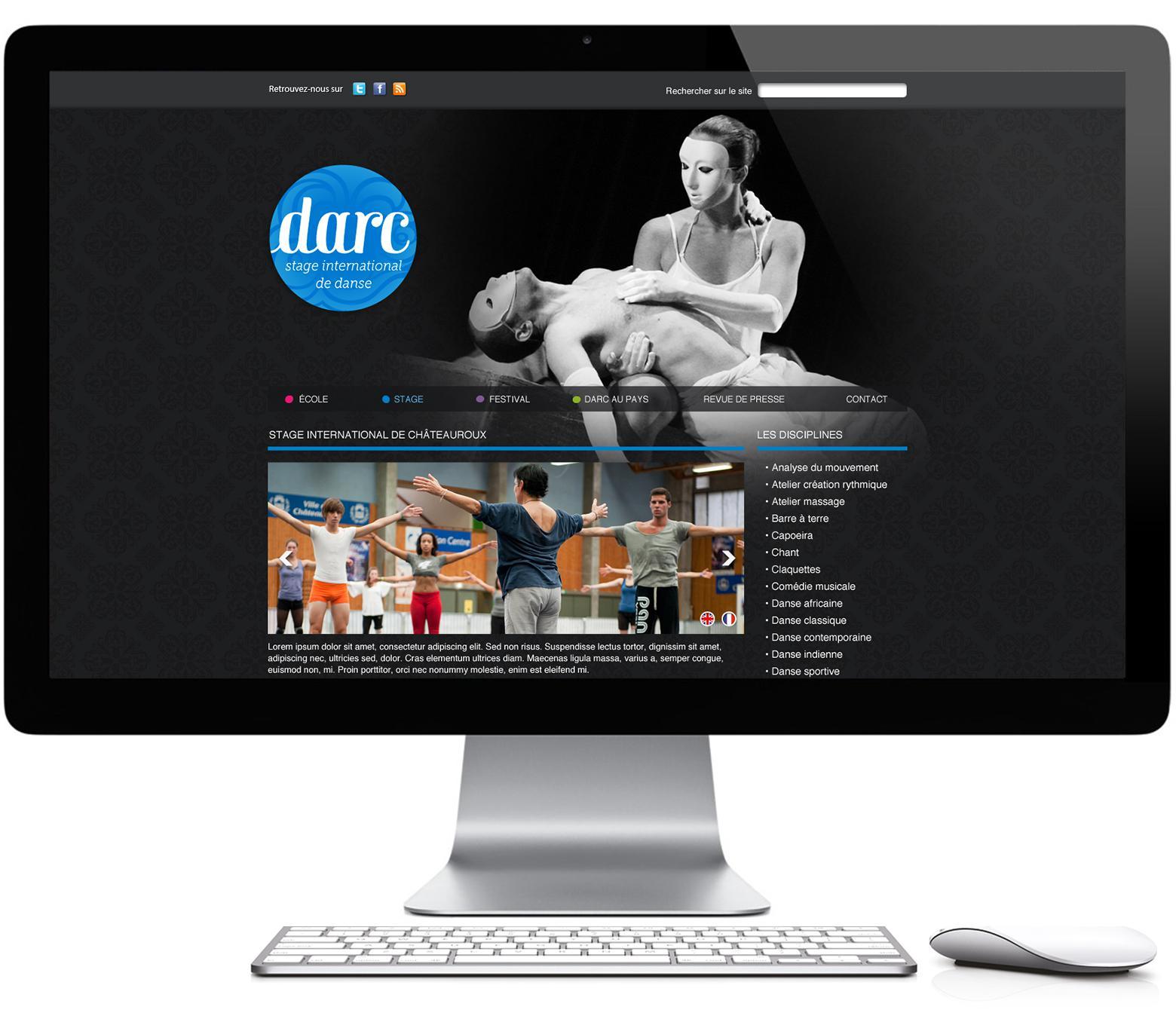 Page sur écran DARC