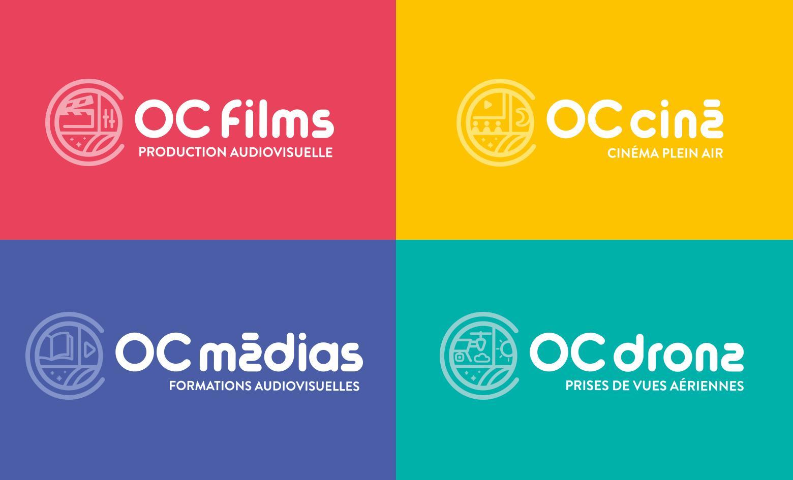 logos filiales OC films