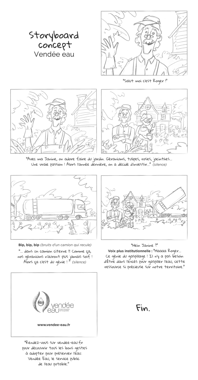 Storyboard Vendée eau